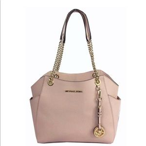 MICHAEL KORS JET SET TRAVEL Pale Pink Leather Bag